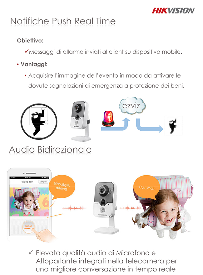 Ezviz Cloud Hikvision - Audio Bidirezionale