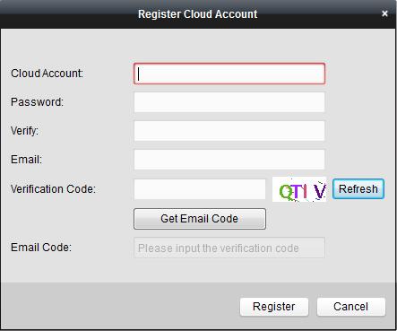 Cloud-Ezviz-iVMS4200-Register