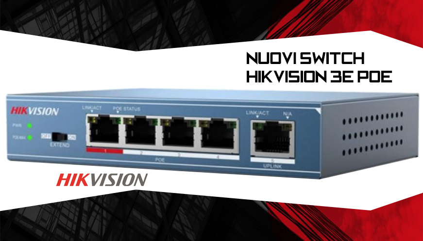 Switch Hikvision 3E PoE